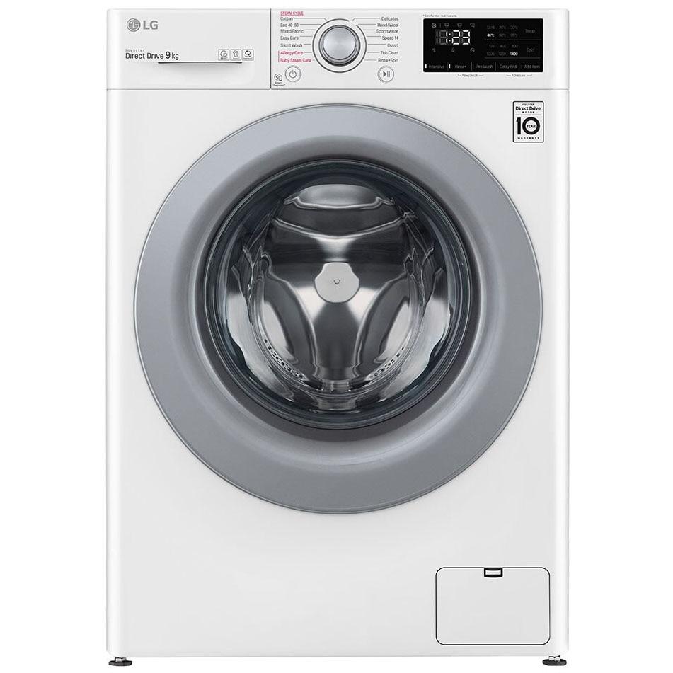 Fotografie Masina spalat rufe LG F4WV309S4E, 9 kg, 1400 RPM, Clasa B, Inverter Direct Drive, Steam, Smart Diagnosis, Alb