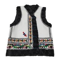 Bundita pentru barbati, Iuvitex - La Sezatoare, model traditional, cusuta si brodata manual, marime L, Multicolora