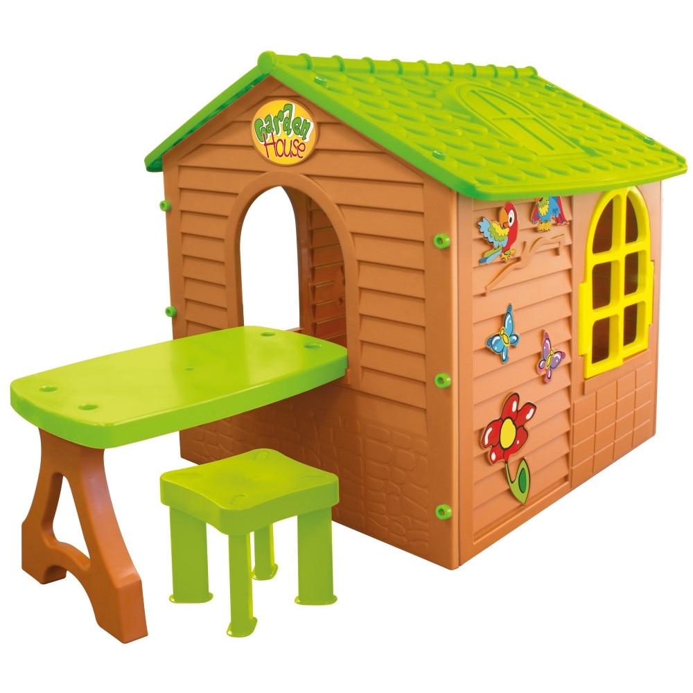 Fotografie Casuta pentru copii MochToys Garden House cu masuta