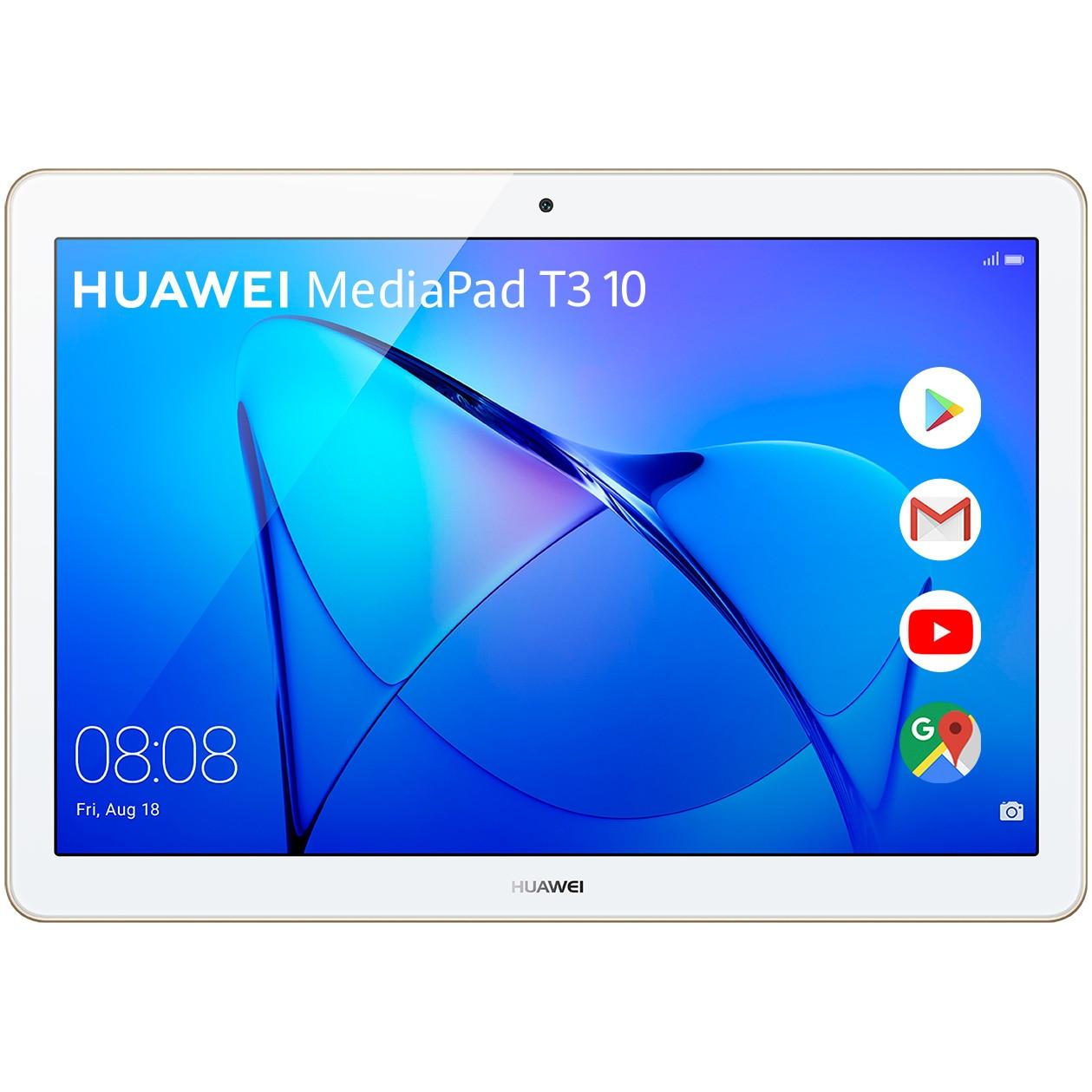 "Fotografie Tableta Huawei MediaPad T3 10, Quad Core, 9.6"", 2GB RAM, 16GB, 4G, Gold"