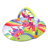 Бебешко килимче EmonaMall W2076, За новородени деца, Многоцветен/Розов