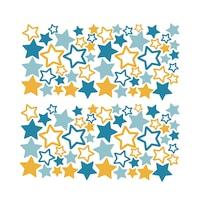 Színes csillagok 4 Dekorációs falmatrica, 2 lap 30cm x 60cm