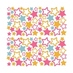 Színes csillagok 2 Dekorációs falmatrica, 2 lap 30cm x 60cm