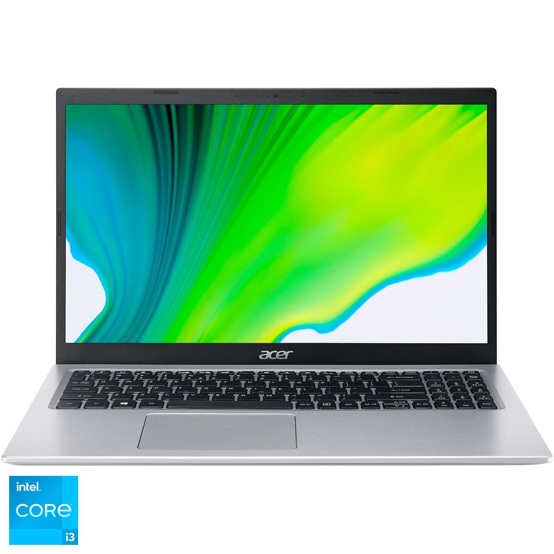 "Fotografie Laptop Acer Aspire 5 A515-56 cu procesor Intel® Core™ i3-1115G4 pana la 4.10 GHz, 15.6"", Full HD, 8GB, 512GB SSD, Intel® UHD Graphics, No OS, Silver"