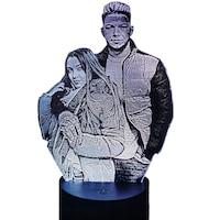 Lampa led 3D personalizata cu poza, multicolor, 20 x 14 x 9 cm