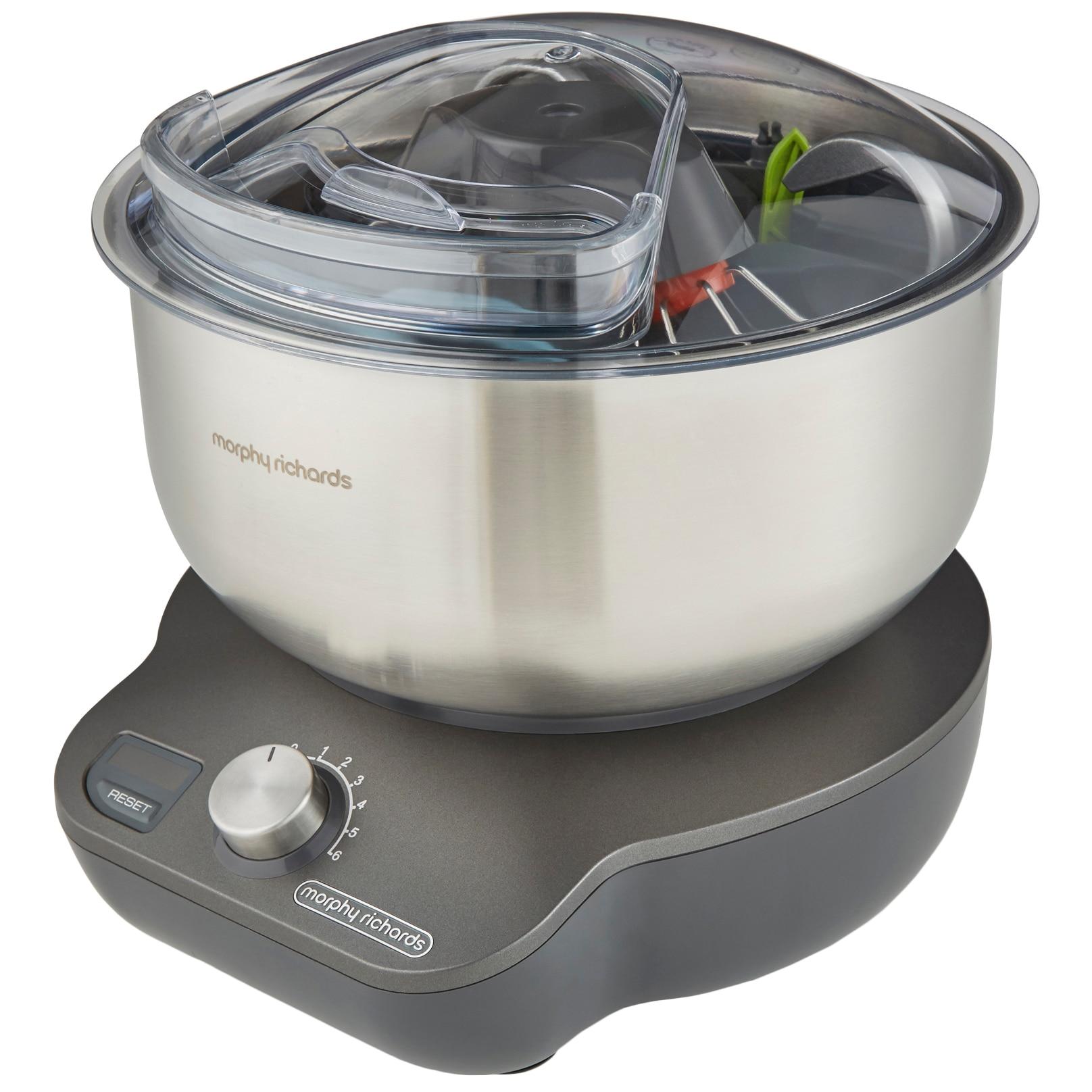 Fotografie Mixer cu bol Morphy Richards Mix Star 400520, compact, 650W, vas inox 5 litri, 6 trepte de viteza, Inox