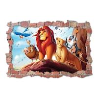 3D Dekorációs falmatrica, Lion King, 60x90cm