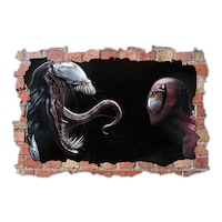 3D Dekorációs falmatrica, Venom & Spiderman, 60x90cm