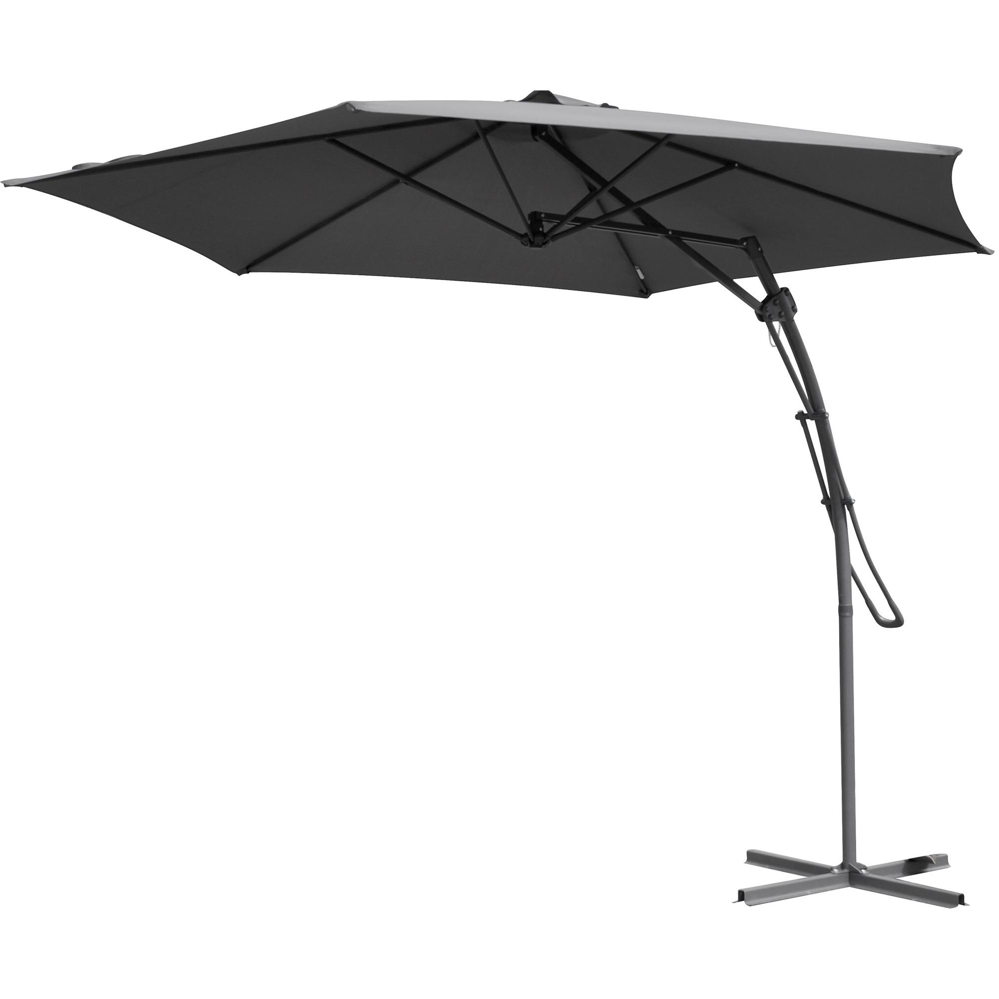 Fotografie Umbrela de gradina suspendata 300 cm, poliester 160g.mp, gri inchis