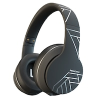 PowerLocus P6 Bluetooth fejhallgató, 20 óralejátszási idő, Bluetooth 5.0, Érintésérzékelő gomb, vezeték nélküli, fül köré illeszkedő, összehajtható, Fekete/Ezüst
