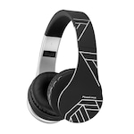 PowerLocus P1 Bluetooth fejhallgató, vezeték nélküli fül köré illeszkedő összehajtható, micro SD, FM Rádió - Fekete/Ezüst