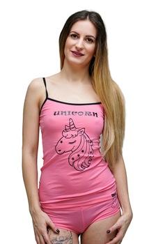 Mintás komplett( pink unikornis),L