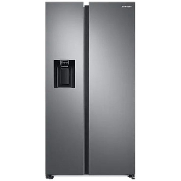 Fotografie Side By Side Samsung RS68A8520S9/EF, 609 l, Clasa F, Full No Frost, Twin Cooling Plus, Conversie Smart 5 in 1, Non-Plumbing, SpaceMax, Compresor Digital Inverter, Dozator apa, Inox
