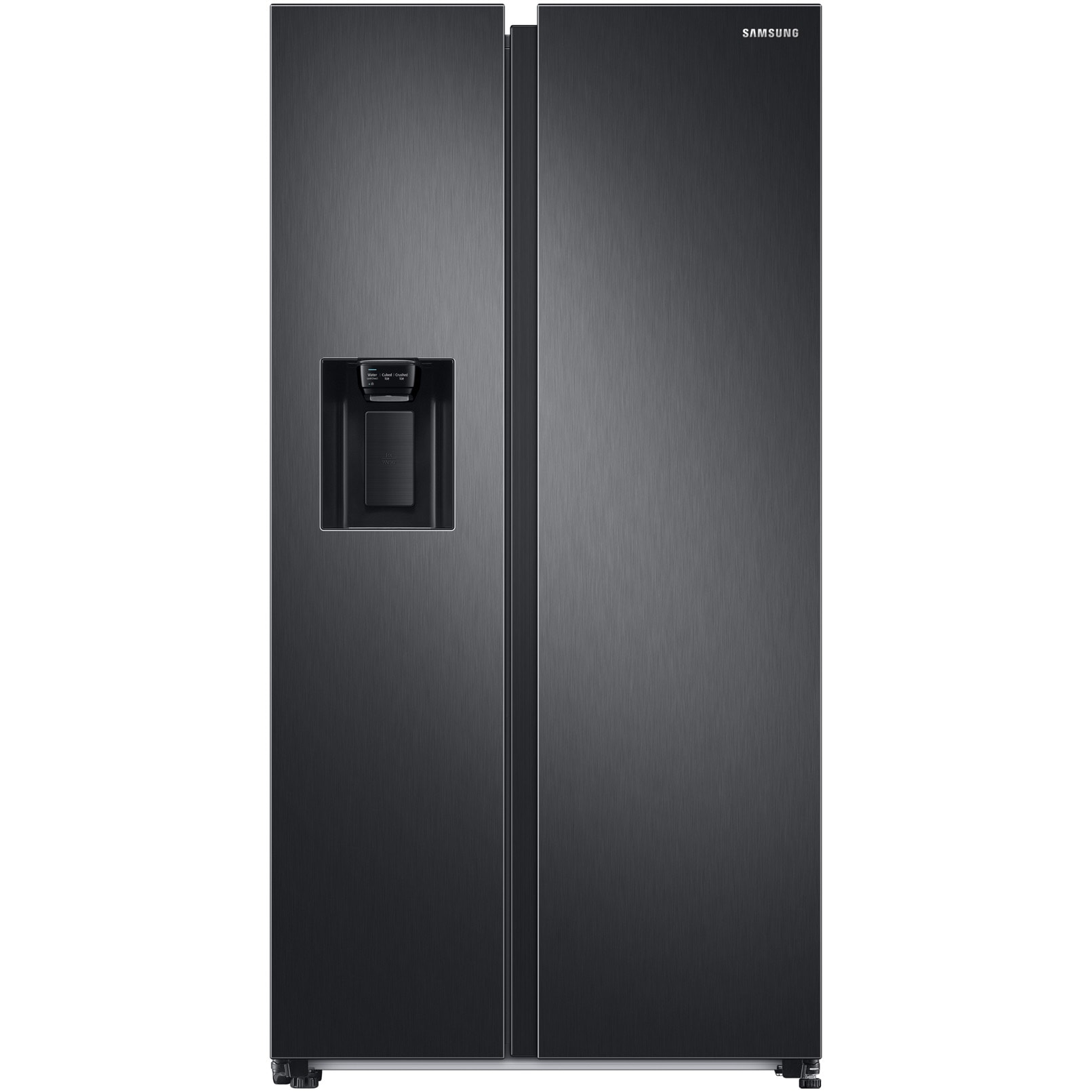 Fotografie Side By Side Samsung RS68A8842B1/EF, 609 l, Clasa D, Full No Frost, Twin Cooling Plus, Conversie Smart 5 in 1, Metal Cooling, Precise cooling, SpaceMax, Compresor Digital Inverter, Dozator apa, Antracit