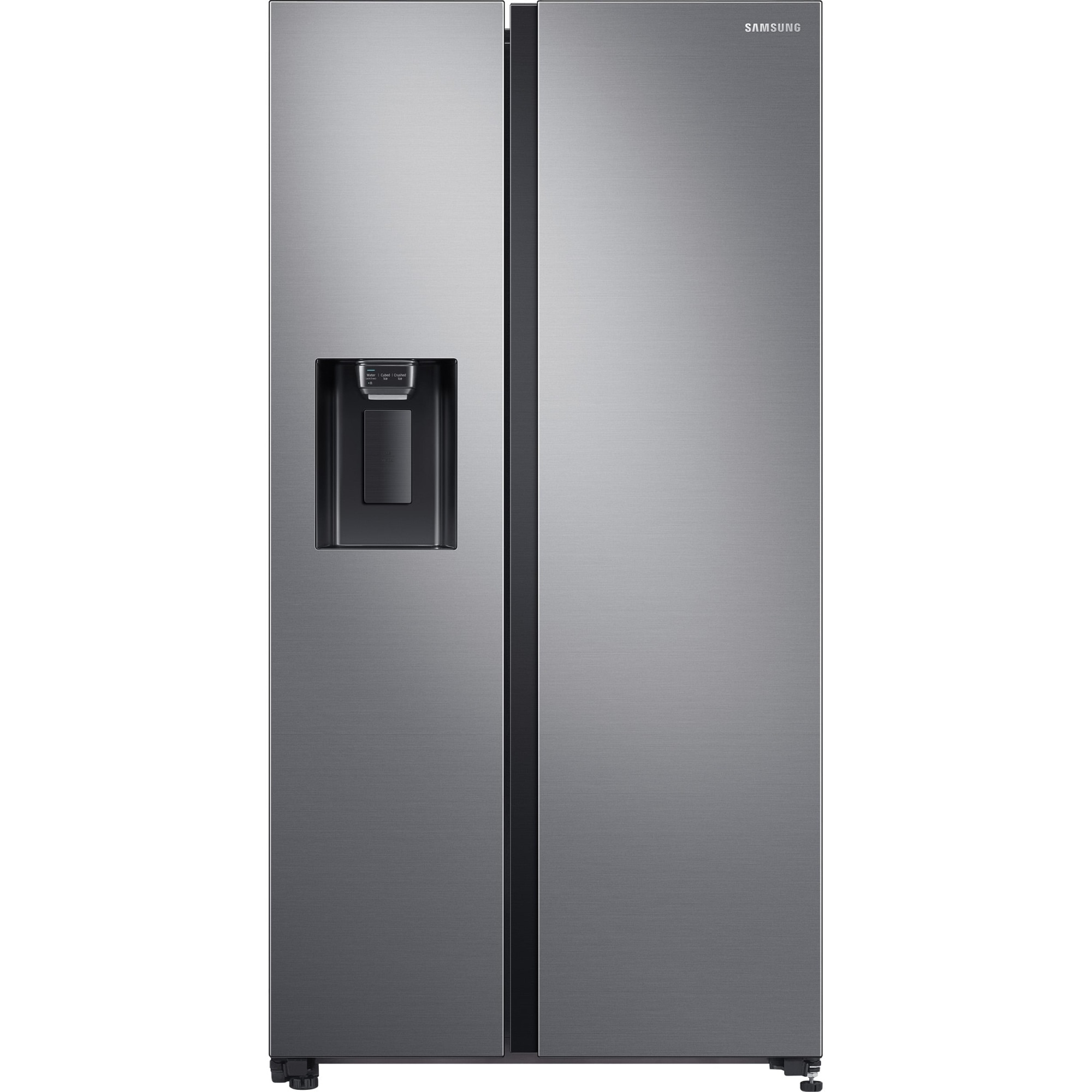 Fotografie Side By Side Samsung RS64R5302M9/EO, 617 l, Clasa F, Full No Frost, All around cooling, Tehnologie Space Max, Non-Plumbing, Dozator apa, Argintiu