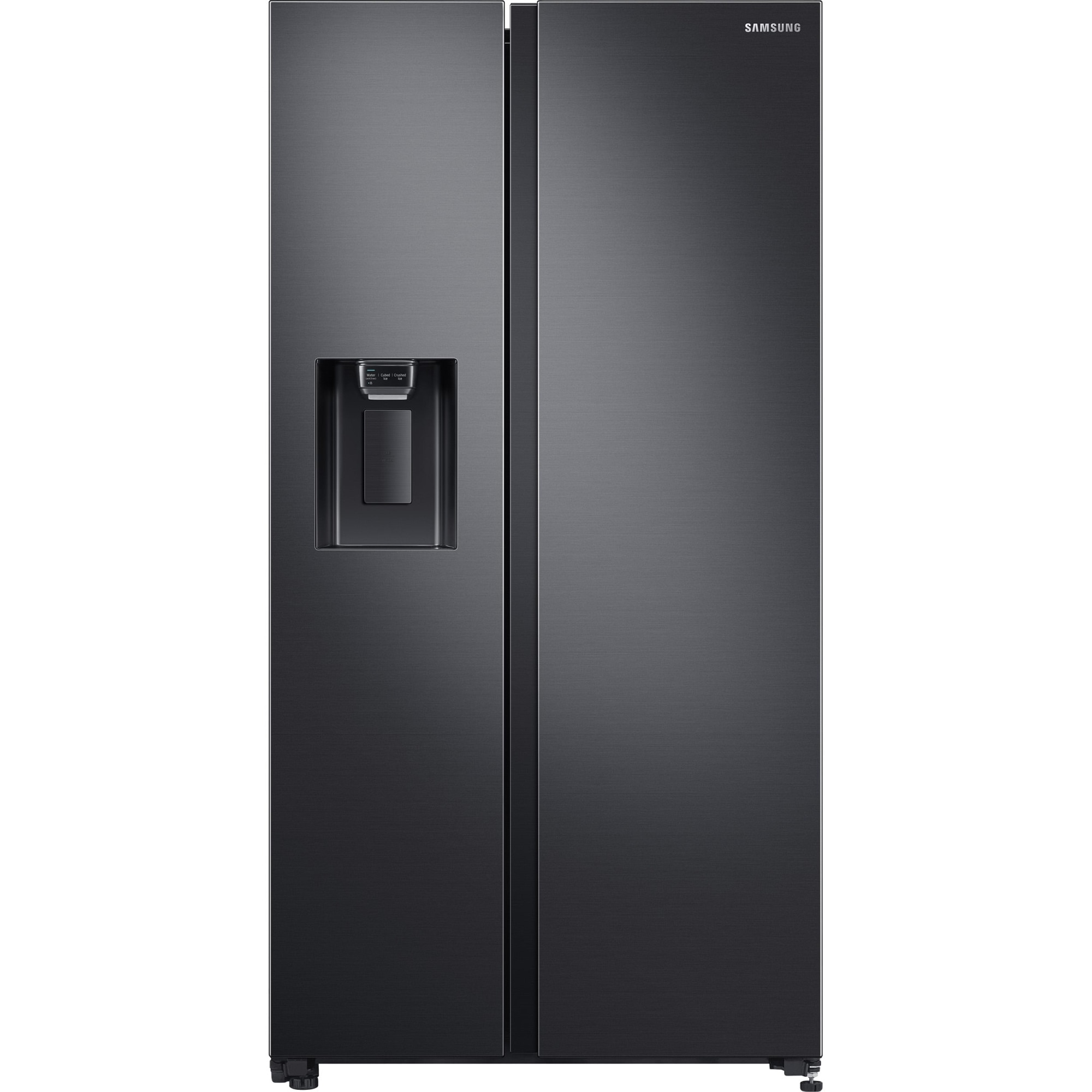 Fotografie Side By Side Samsung RS64R5302B4/EO, 617 l, Clasa F, Full No Frost, All around cooling, Tehnologie Space Max, Non-Plumbing, Dozator apa, Antracit
