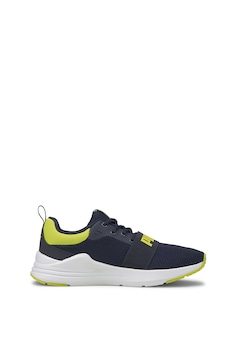 Puma, Мрежести обувки Wired Run с еластична зона, за бягане