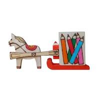 Suport de creioane, Artizanat Ilsaf, Sanie trasa de un cal, 22x5x9.5 cm
