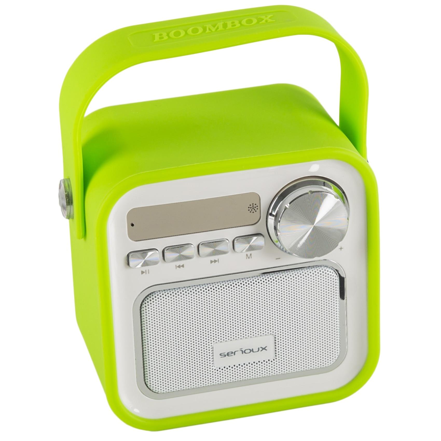 Fotografie Boxa portabila Serioux Joy, Bluetooth, Radio FM, miscroSD, Verde