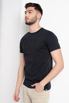 Jack Wolfskin, 365 kerek nyakú organikuspamut-tartalmú póló, Fekete, M