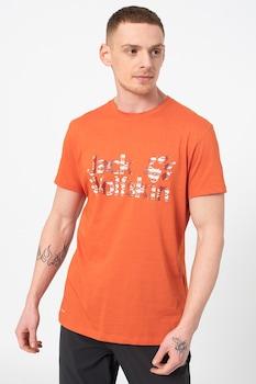 Jack Wolfskin, Logo Ocean organikuspamut-tartalmú póló, narancssárga, M