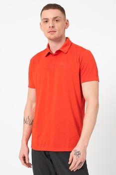 Jack Wolfskin, Normál fazonú galléros póló, Mandarinszín, M