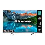 """Телевизор - Hisense 55"""" U7QF, 4K Ultra HD 3840x2160, ULED, FALD, Quantum Dot, HDR 10+, HLG, Dolby Vision, Dolby Atmos, Sound by JBL, Smart TV, WiFi 5GHz, WiFi Direct, BT, DLNA, 4xHDMI, 2xUSB, LAN, CI+, DVB-T2/C/S2, Black/Silver"""