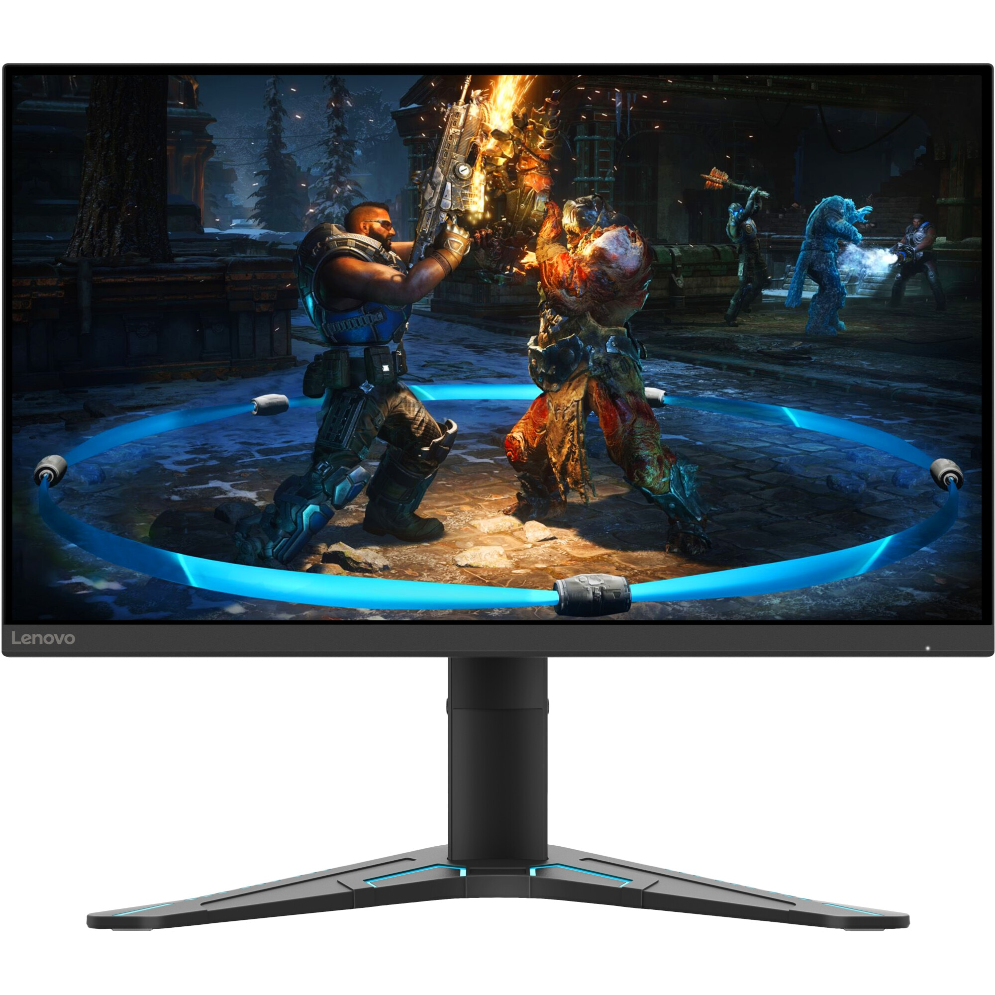 "Fotografie Monitor LED IPS Lenovo 27"", Full HD, DisplayPort, FreeSync, Raven Black"