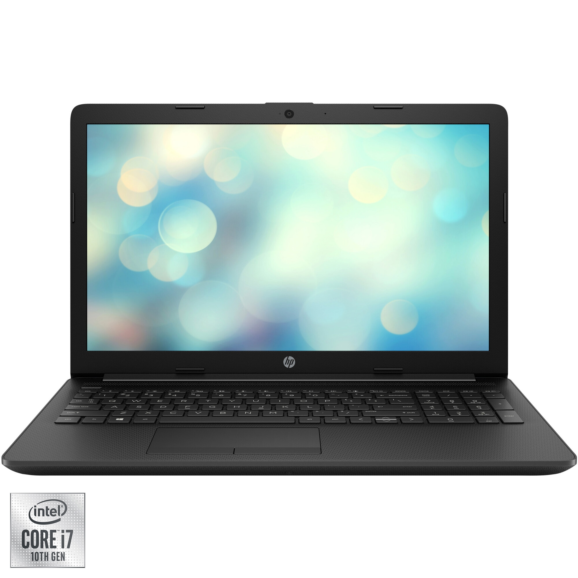 "Fotografie Laptop HP 15-da2005nq cu procesor Intel® Core™ i7-10510U pana la 4.90 GHz, 15.6"", Full HD, 8GB, 512GB SSD, Intel® UHD Graphics, Free DOS, Black"
