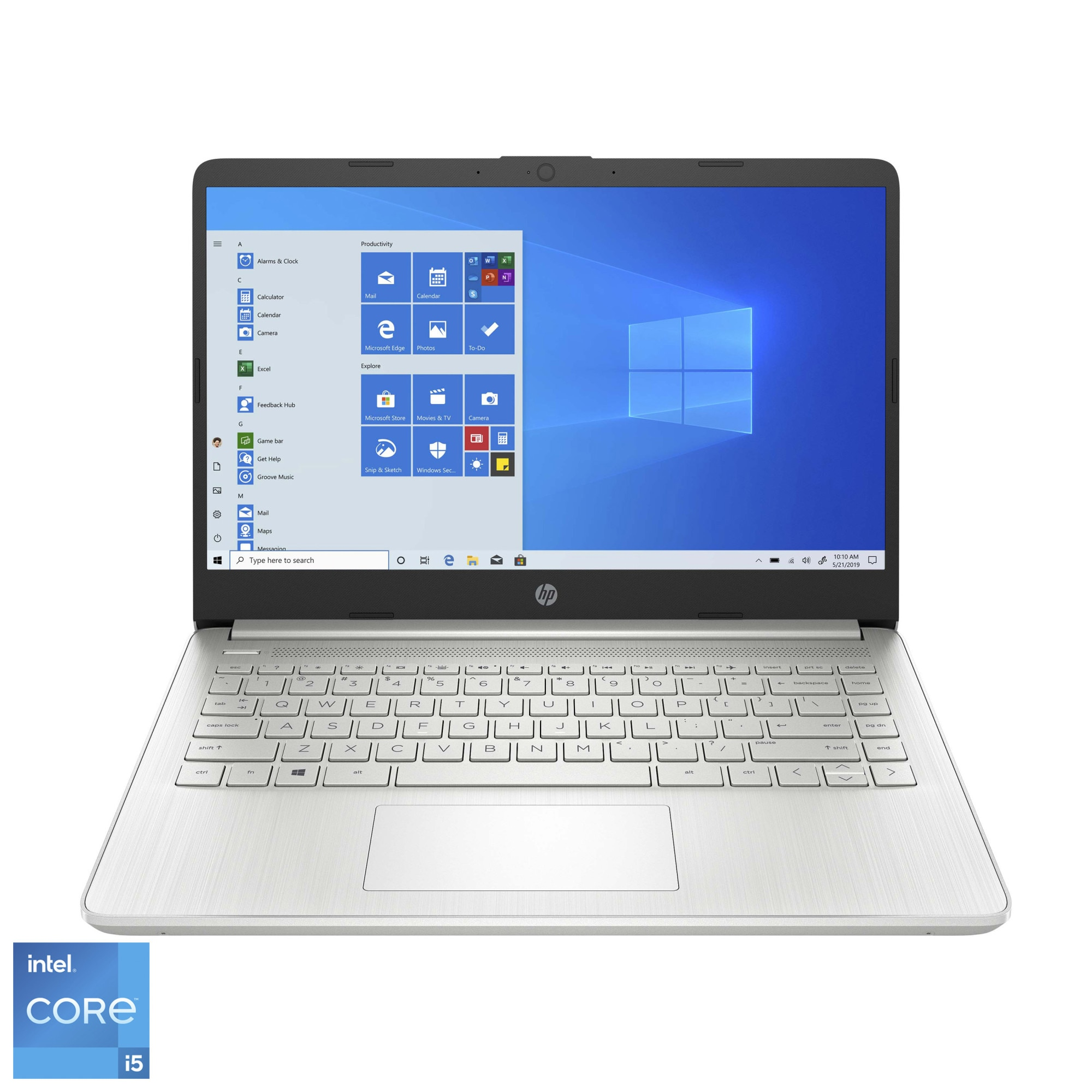 "Fotografie Laptop ultraportabil HP 14s-dq2008nq cu procesor Intel® Core™ i5-1135G7 pana la 4.20 GHz, 14"", Full HD, 8GB, 256GB SSD, Intel Iris XE Graphics, Windows 10 Home, Natural Silver"