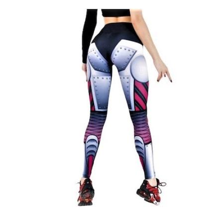 Fitness harisnyanadrág, jóga, aerobic, jogging, Többszínű White Iron nő, S méret Közepes, 34-36 EU