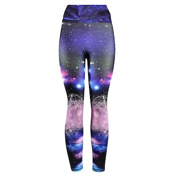 Fitness harisnyanadrág, jóga, aerobic, futás, Többszínű, Galaxy, M méret, magas derék, 38-40 EU