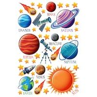 Bolygók a Naprendszerben 2 Dekorációs falmatrica, 3 lap 30cm x 60cm