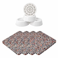 4 darab rázkódás- és lengéscsillapító gumi szőnyeg mosógéphez, szárítógéphez, mosogatógéphez, Intervisio