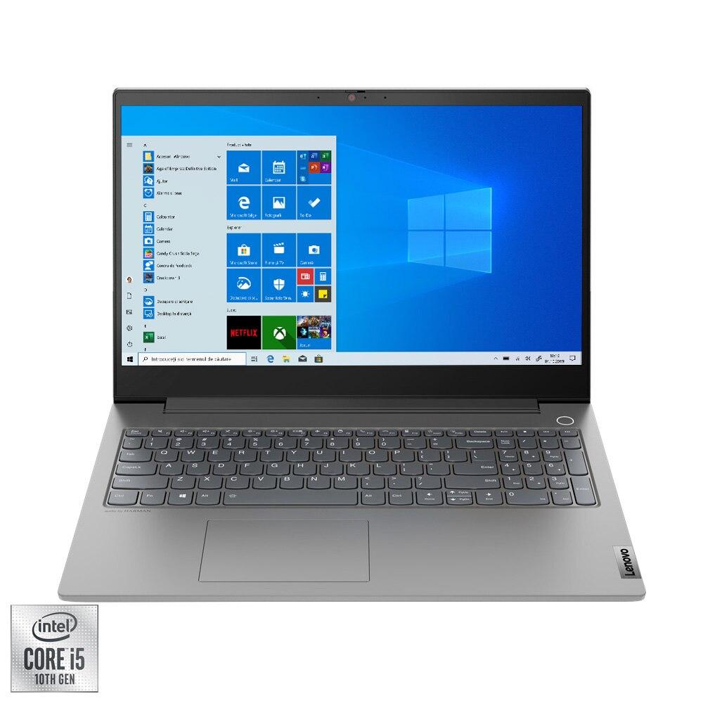 "Fotografie Laptop Lenovo ThinkBook 15p IMH cu procesor Intel Core i5-10300H pana la 4.50 GHz, 15.6"", UHD, 16GB, 512GB SSD, NVIDIA GeForce GTX 1650Ti Max-Q 4GB, Windows 10 Pro, Mineral Grey"