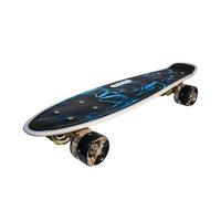 Full LED Penny Board, Szilikon Kerekekkel, Fekete Szín, Robentoys®