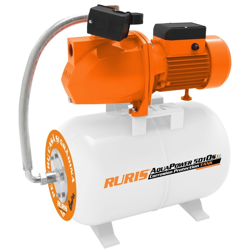 Fotografie Hidrofor RURIS aquapower 5010S, 2.200 W, 50 l , debit 60 l/min, 70 m inaltime refulare, 9 m adancime absorbtie