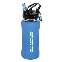 Shaker Ideal pentru prepararea suplimentelor nutritive, 500 ml, albastru, otel inoxidabil