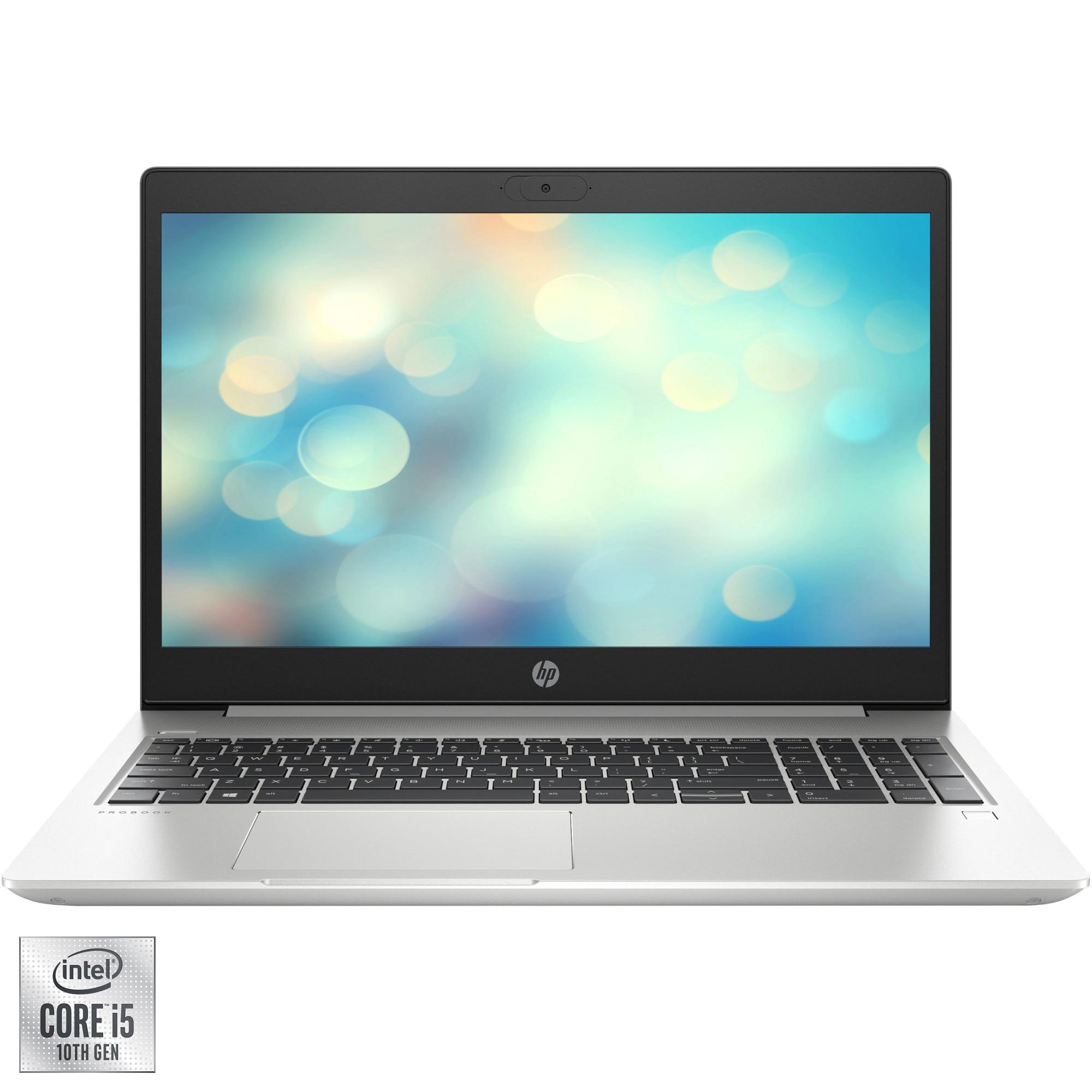 "Fotografie Laptop HP ProBook 450 G7 cu procesor Intel Core i5-10210U pana la 4.20 GHz, 15.6"", Full HD, 8GB, 1TB HDD, NVIDIA® GeForce® MX250 2GB, Free DOS, Pike Silver"