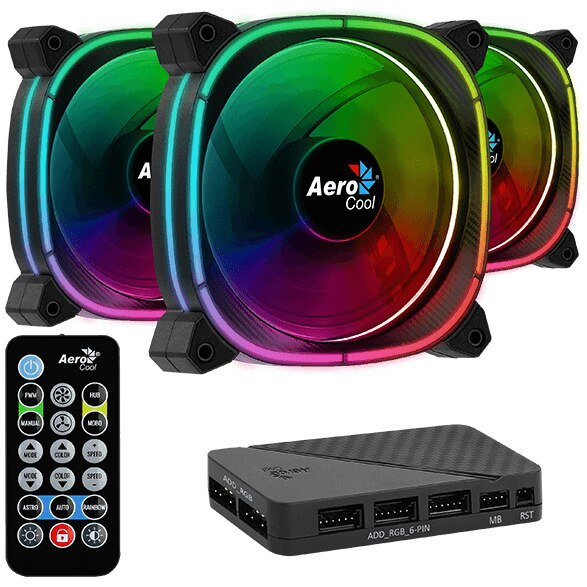 Fotografie Ventilator Aerocool Astro 12 Pro, 120mm, PWM, Kit