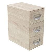 Felis íróasztal szervező, 3 fiókos, 22 x 13 x 25,5 cm, bézs