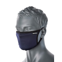 Portwest 2 rétegű kék, állítható fülpántos antimikrobiális textil maszk orrmerevítővel
