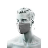 Portwest 2 rétegű szürke, állítható fülpántos antimikrobiális textil maszk