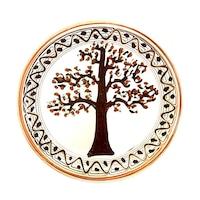 Farfurie din ceramica de Horezu, Pomul vietii, model 5477, Ø 190 mm