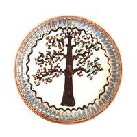 Farfurie din ceramica de Horezu, Pomul vietii, model 5472, Ø 190 mm