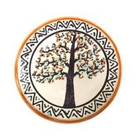 Farfurie din ceramica de Horezu, Pomul vietii, model 5476, Ø 190 mm