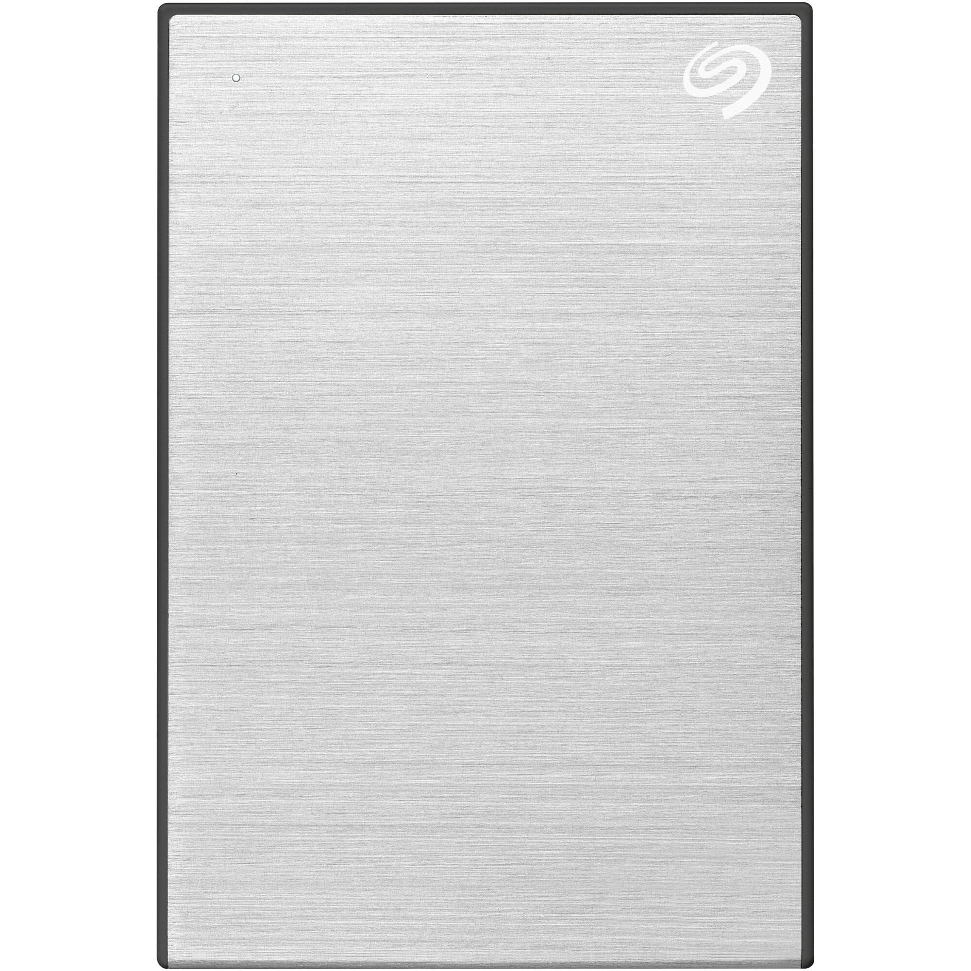 """Fotografie HDD Extern Seagate One Touch 4TB, 2.5"""", USB 3.2 Gen 1, Aluminiu, Argintiu"""