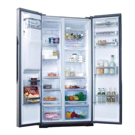 Side by side Panasonic NR-B53V2-XE, 530 l, Clasa A++, No Frost, Inverter, Twin-Eco Cooling, Dispenser, H 186 cm, Inox
