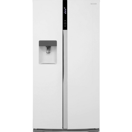 Side by side Panasonic NR-B53VW2-WE, 530L, Clasa A++, No Frost, Inverter, Twin-Eco Cooling, Dispenser, H 186 cm, Alb