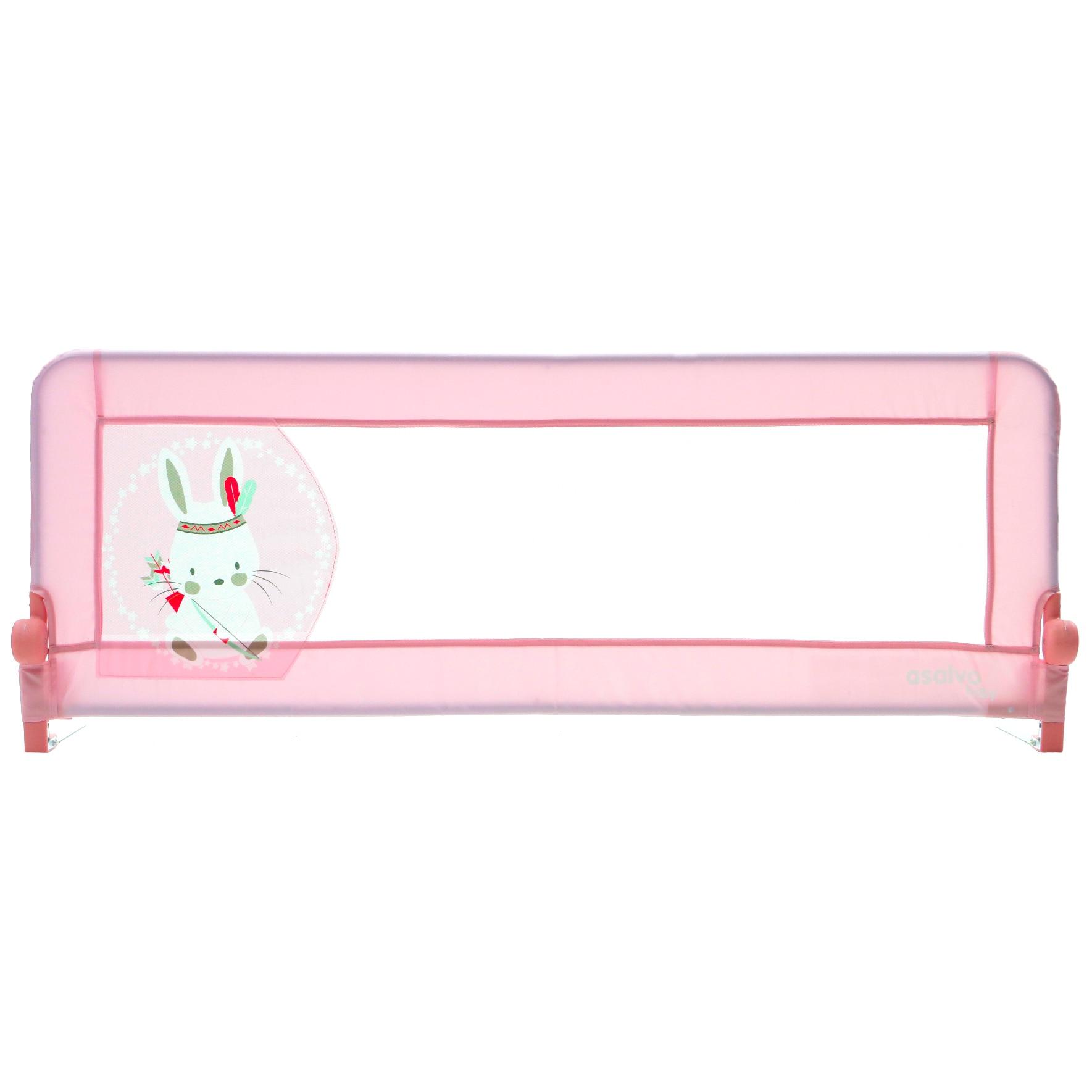 Fotografie Bariera de protectie pat copii 2 in 1 Asalvo Rabbit Tippi Pink, Fucsia